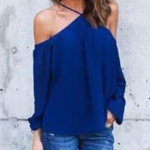 Brand new with tags Chiffon off the shoulder top